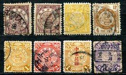 VA850 CHINA CINA 1897-98 Drago, 1a E 2a Emissione, 8 Valori Usati, Buone Condizioni, Coiling Dragons, 1st-2nd Issue, 8 U - Cina