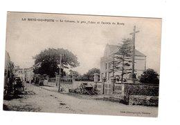 CPA 50 - La Haye Du Puits - Le Calvaire, Le Gros Chêne Et L'entrée Du Bourg - France