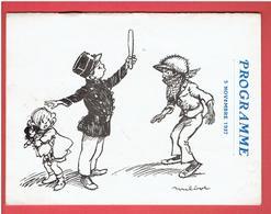 POULBOT 1925 PROGRAMME GALA DE BIENFAISANCE POUR L ORPHELINAT DE LA POLICE DU VAL D YEVRE ET D OSMOY CHER - Poulbot, F.