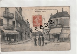 CPA - 94 - VILLIERS SUR MARNE - Rue De La Mairie - Café Tabac - Marchand D'huitres - Villiers Annonces - Animation - - Villiers Sur Marne