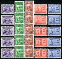 VA856 CHINA CINA 1947, 50° Anniversario Amministrazione Postale Cinese, MH, Mi 830-834, 5 Serie Complete, Ottime Condizi - 1912-1949 Repubblica