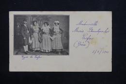 GRECE - Entier Postal Illustré ( Types De Corfou ) De Corfou Pour La France En 1901 - L 24620 - Interi Postali