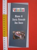Z.06 FOSSILI DEPLIANT MUSEO PALEO - ITALIA TORINO MUSEO STORIA NATURALE DON BOSCO VALSALICE PIEGHEVOLE - Fossielen