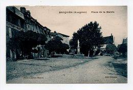 - CPA BROQUIÈS (12) - Place De La Mairie 1926 - Edition Granier - - Frankreich