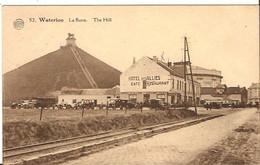 52 WATERLOO LA BUTTE LION Hotel Des Allies Café Restaurant Rails 1930 Braine L'Alleud Postzegels Weg !  1054/d2 - Waterloo