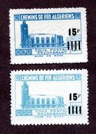 Algérie Colis Postaux  N°178Aa+178d N** LUXE  Cote 55 Euros !!!RARE - Algérie (1924-1962)