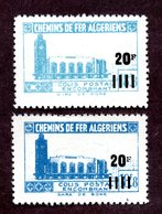 Algérie Colis Postaux  N°179Aa+179d N** LUXE  Cote 55 Euros !!!RARE - Algérie (1924-1962)