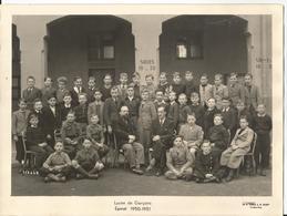 Grande Photo -Photo De Classe  -  Lycéeà  Epinal En 1951/52 - Places