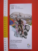 Z4 HELVETIA SVIZZERA SUISSE DEPLIANT LAUSANNE MUSEE OLYMPIQUE 2016 FR  ENG 12 PAG. OLIMPIADE OLYMPIC RIO JANEIRO BRASIL - Altri