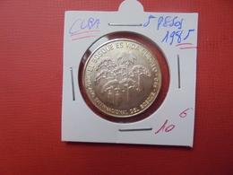 CUBA 5 PESOS 1985 ARGENT 999/1000 - Cuba