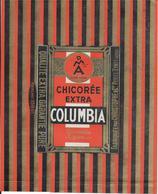 ETIQUETTE  NEUVE De CHICOREE  EMBALLAGE 19 X 24 COLUMBIA  CHRISTOPHET Cie PETITE SYNTHE NORD - Autres