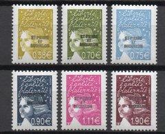 - SAINT-PIERRE ET MIQUELON N° 800/05 Neufs ** - Série Courante Marianne De Luquet 2003 - Cote 24,00 EUR - - St.Pierre & Miquelon