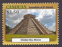 Canouan / Grenadines Of St. Vincent 2013 - Unesco World Heritage, Tourism, Chichen Itza Mexico, Historical Monuments MNH - St.Vincent & Grenadines