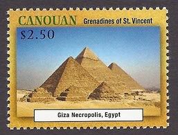 Canouan / Grenadines Of St. Vincent 2013 - Unesco World Heritage, Giza Necropolis (Egypt) Historical Monuments MNH - St.Vincent & Grenadines