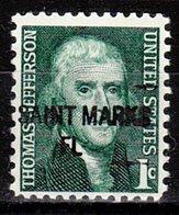 USA Precancel Vorausentwertung Preo, Locals Florida, Saint Marks 841 - Vereinigte Staaten