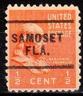 USA Precancel Vorausentwertung Preo, Locals Florida, Samoset 703 - Vereinigte Staaten