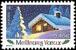 Autoadhésif(s) De France N°   34 ** Au Modèle 3534 - Meilleurs Veux 2003 - Chalet Sous La Neige - Sapin - Neufs