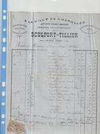 SAONE ET LOIRE ) CHAROLLES , A LA VILLE DE CHAROLLES , Draperies SCULFORT-TILLIER - Petits Métiers