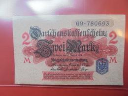 Darlehnskassenschein :2 MARK 1914 PEU CIRCULER - [ 2] 1871-1918 : Empire Allemand