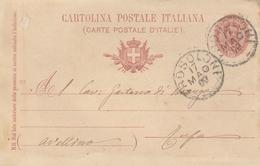 Frosolone. 1900. Annullo Grance Cerchio FROSOLONE,  Su Cartolina Postale Completa Di Testo - Poststempel