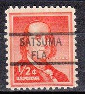 USA Precancel Vorausentwertung Preo, Locals Florida, Satsuma 821 - Vereinigte Staaten