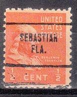 USA Precancel Vorausentwertung Preo, Locals Florida, Sebastian 704 - Vereinigte Staaten
