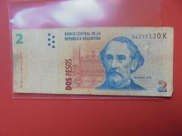 ARGENTINE 2 PESOS CIRCULER - Argentinië