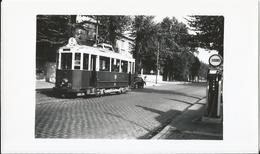 Photo - Tramway à Dijon - Pompe à Essence - 1955 - Treinen