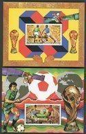 DJIBOUTI 2 Blocs Spéciaux Sur Papier Gommé De La Poste Aérienne N° 227-228 VAINQUEURS COUPE DU MONDE DE FOOTBALL (1986) - Fußball-Weltmeisterschaft
