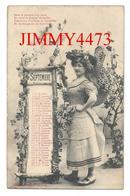 CPA - CALENDRIER - SEPTEMBRE + Texte - Jeune Femme Avec Un Beau Chapeau - Edit.Bergeret & Cie Nancy - Scans Recto-Verso - Femmes