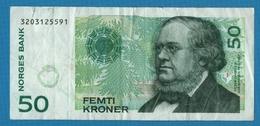 NORWAY 50 Kroner 2000 Serie 3203125591 P# 46 Peter Christen Asbjørnsen - Norvège