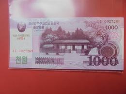 COREE(NORD) 1000 WON 2008 NEUF - Corée Du Nord