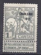 BELGIQUE - COB - 100* - 1910-1911 Caritas