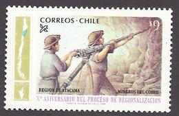 Chile / Chili 1984 Regions - Region De Atacama, Mineros Del Cobre, Mines, Mining, Miniere MNH - Chile