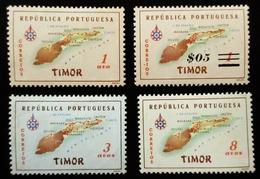 TIMOR . Timor Map 4 Valeurs . Neufs Traces Charnières - Timor