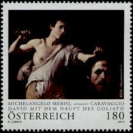 Austria 2019 Caravaggio-David Und Goliath MNH/**/POSTFRISCH - 1945-.... 2ème République