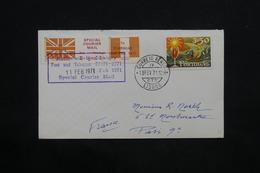 PORTUGAL - Vignette Avec Cachet Spécial Courier Mail Avec Cachet En 1971 Sur Enveloppe De Lisbonne - L 24662 - 1910-... République