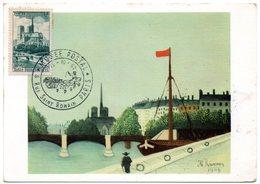 PARIS 1962 = CARTE MAXIMUM  + N° 776 CATHEDRALE NOTRE-DAME + ROUSSEAU + MUSEE POSTAL LETTRE SUPORTS - 1960-69