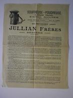 34 Béziers. Jullian Frères, Ingénieurs Constructeurs. Notice Soufreuse Poudreuse, Système Guilhem - Agriculture