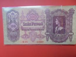 HONGRIE 100 Pengö 1930 CIRCULER - Hongrie