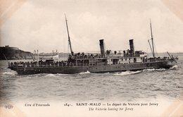 CPA, Saint-Malo, Les Terreneuviers Dans Le Bassin - Saint Malo