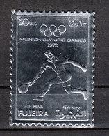 Fujeira - 1972. Tennis. Su Lamina Argento, Dentellato. On Silver Foil, Notched. - Zomer 1972: München
