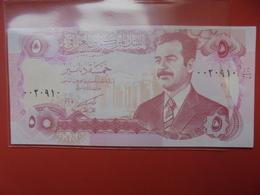 IRAQ 5 DINARS 1992 PEU CIRCULER - Iraq