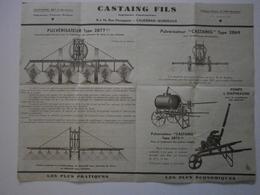 33 Caudéran. Castaing Fils. Pulvérisateurs, Soufreuses, Pompes - Agriculture