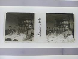 Villemoison 1921 Stéréo Sur Verre Plaque De Verre Françe - Diapositivas De Vidrio
