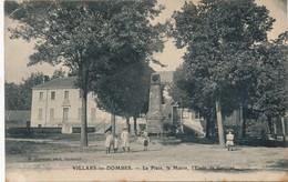 I81- 01 - VILLARS-LES-DOMBES - Ain - La Place, La Mairie, L'école De Garçons - Villars-les-Dombes