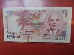 MALAWI 1 KWACHA 1992 CIRCULER - Malawi