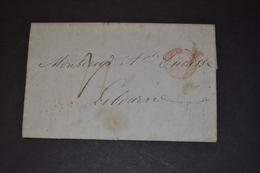 Lettre 1845 REUNION Le Piton Pour Libourne Cachet Rouge - Marcophilie (Lettres)