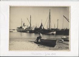 QUIBERON - PORT-MARIA - Arrivée Du Bateau GUEDEL - Datée Juillet 1947 - Photo Amateur Originale Format 23x17 - Lieux