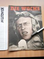 1944 DIE WOCHE  WWII GERMANY MAGAZINE NEWSPAPERS NEWS DEUTSCHLAND DEUTSCHE TANK MAP PILOT LUFTWAFFE Air Force NORMANDY - 1939-45